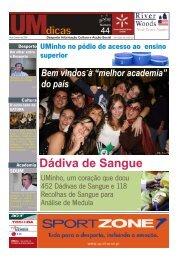 UMdicas Dádiva de Sangue - UMdicas - Universidade do Minho