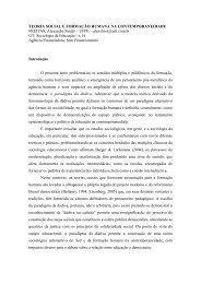 TEORIA SOCIAL E FORMAÇÃO HUMANA NA ... - Unifap