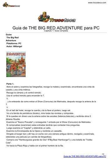 Guia de THE BIG RED ADVENTURE para PC - Trucoteca.com