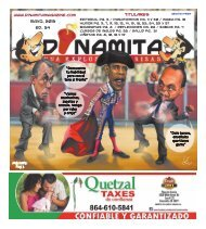 Mayo, 2013 Ed. 34 Titulares - Dinamita Magazine