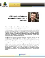 Félix Muñoz, DirCom de Coca-Cola España, deja la ... - Red DirCom