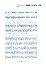 Download Pressemitteilung (PDF) - Ernst F. Ambrosius & Sohn GmbH