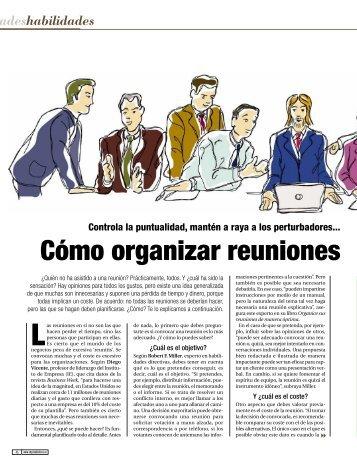 Cómo organizar reuniones - Emprendedores