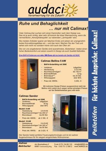 Pelle Ruhe und Behaglichkeit … nur mit Calimax! töfen