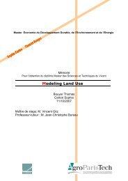 Modeling Land Use - Imaclim - Centre International de Recherche ...