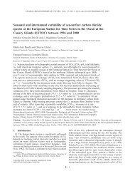 Seasonal and interannual variability of sea-surface carbon ... - ulpgc