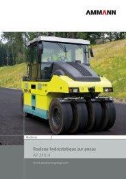 Documentation, Compacteur à pneus AP 240H - Ammann