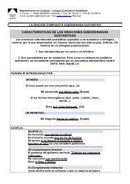 Oraciones COMPUESTAS - Colegio Sagrada Familia de Manises