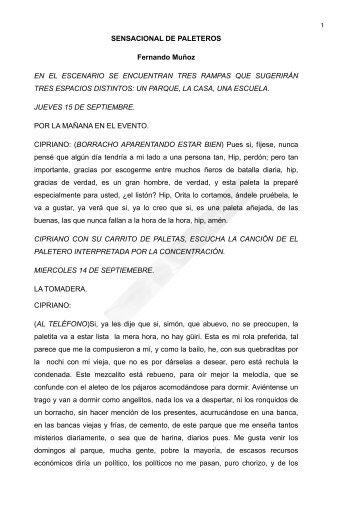 SENSACIONAL DE PALETEROS Fernando Muñoz EN ... - Dramared
