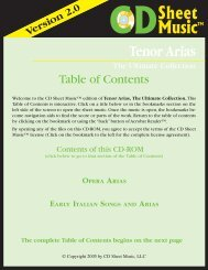 The complete Table of Contents begins on the