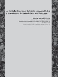 As Múltiplas Dimensões do Sujeito Moderno: Dádiva e Novas ... - IFPE
