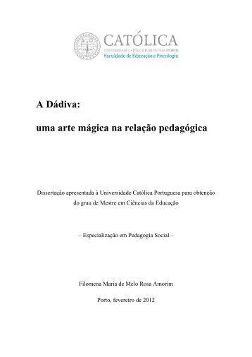 Dissertação DÁDIVA Filomena Amorim.pdf - Universidade Católica ...