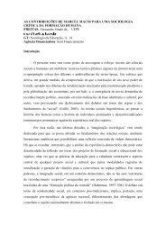 As contribuições de Marcel Mauss para uma sociologia - Unifap