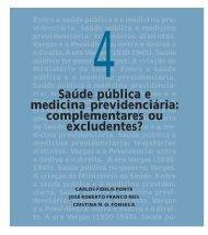 Saúde pública e medicina previdenciária: complementares ... - Fiocruz