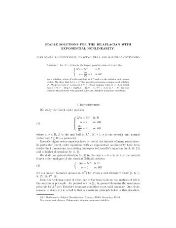 Stable solutions for the bilaplacian with exponential nonlinearity