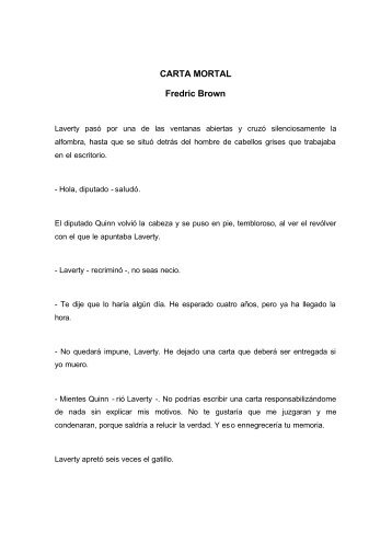 CARTA MORTAL Fredric Brown