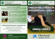Gimnasia lumbar I - Grupo de Investigación en Gerontología ...
