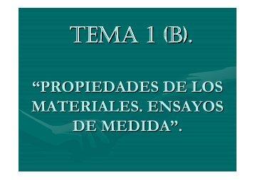 Propiedades de los materiales. Ensayos. - IES Santa María La Real