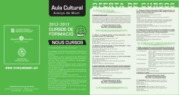 Quadríptic Aula Cultural 2012-2013 - Ajuntament d'Arenys de Munt