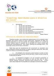 Coaching: Habilidades para el directivo del futuro - Escuelas Católicas