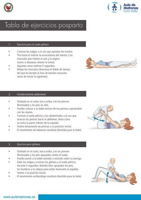 tabla de ejercicios gluteos y abdomen