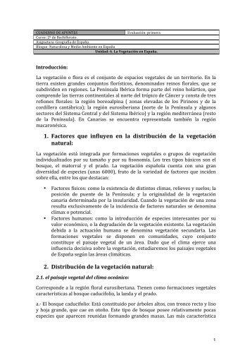 CUADERNO DE APUNTES. Unidad Didáctica SEIS. - Geografia