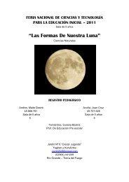 """""""Las Formas De Nuestra Luna"""" - Ministerio de Educación TDF."""
