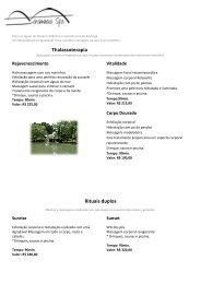 Thalassoterapia alassoterapia Rituais duplos - Le Relais de ...