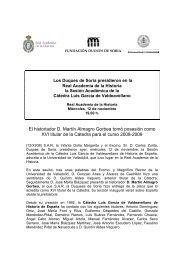 Nota de prensa - Real Academia de la Historia