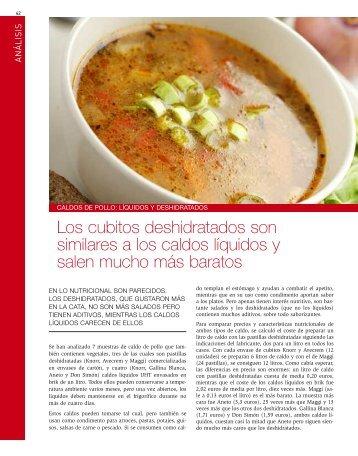 Caldos de pollo: líquidos y deshidratados (203 Kb ) - Revista ...