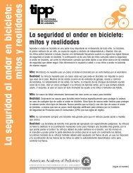 TIPP: La seguridad al andar en bicicleta: mitos y realidades