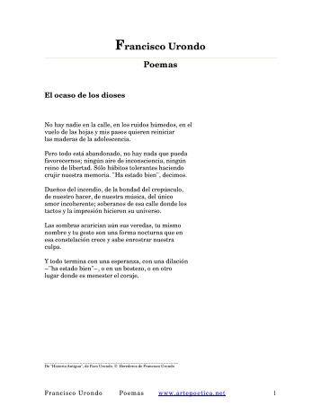 Francisco Urondo Poemas - Rostros y Versos