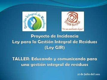Diapositiva 1 - Asociación Terra Nostra