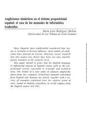 Anglicismos sintácticos en el sistema preposicional español: el caso ...