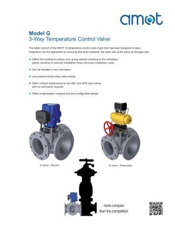 Model G 3-Way Temperature Control Valve - Amot