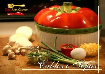 Caldos e Sopas - Chef Alex Caputo