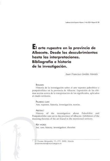 El arte rupestre en la provincia de Albacete - Museos de la Región ...
