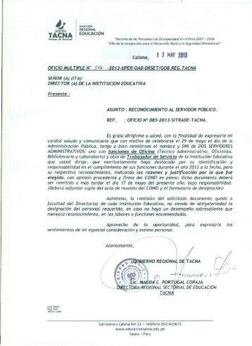 oficio multiple nº 096-2013-uper-oad-drset/gob.reg.tacna ::: 13/05 ...
