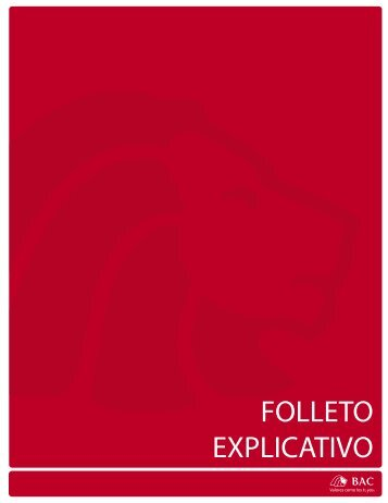FOLLETO EXPLICATIVO - BAC