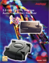 5.8 Ghz DIGITAL Wireless Audio Transmitter ... - amphony.de