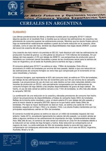 cereales 2010_12_91 - Bolsa de Comercio de Rosario