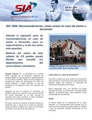 SIA 1699: Recomendaciones, cómo actuar en caso de sismo o ...