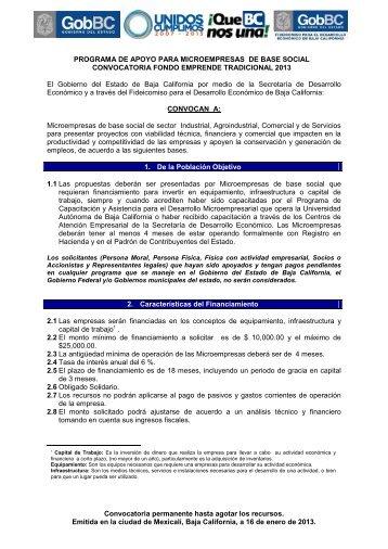 Consultar Convocatoria - Gobierno del Estado de Baja California