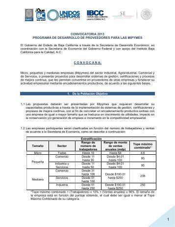 Convocatoria al Programa - Gobierno del Estado de Baja California