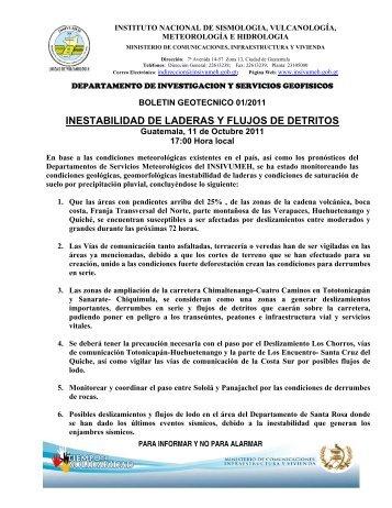 INESTABILIDAD DE LADERAS Y FLUJOS DE DETRITOS