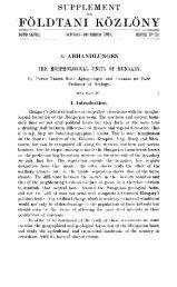 Földtani Közlöny 48. köt. 1918. 10-12. füzet - EPA