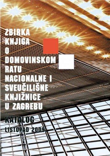 katalog. (2009) - NSK - Nacionalna i sveučilišna knjižnica u Zagrebu