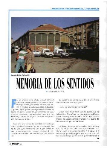 Mercados/Literaturas - Memoria de los sentidos - Mercasa
