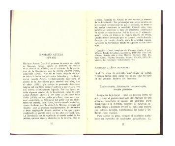 MARIANO AZUELA 1873-1952 - El cuento desde México