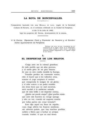 LA ROTA DE RONCESVALLES.
